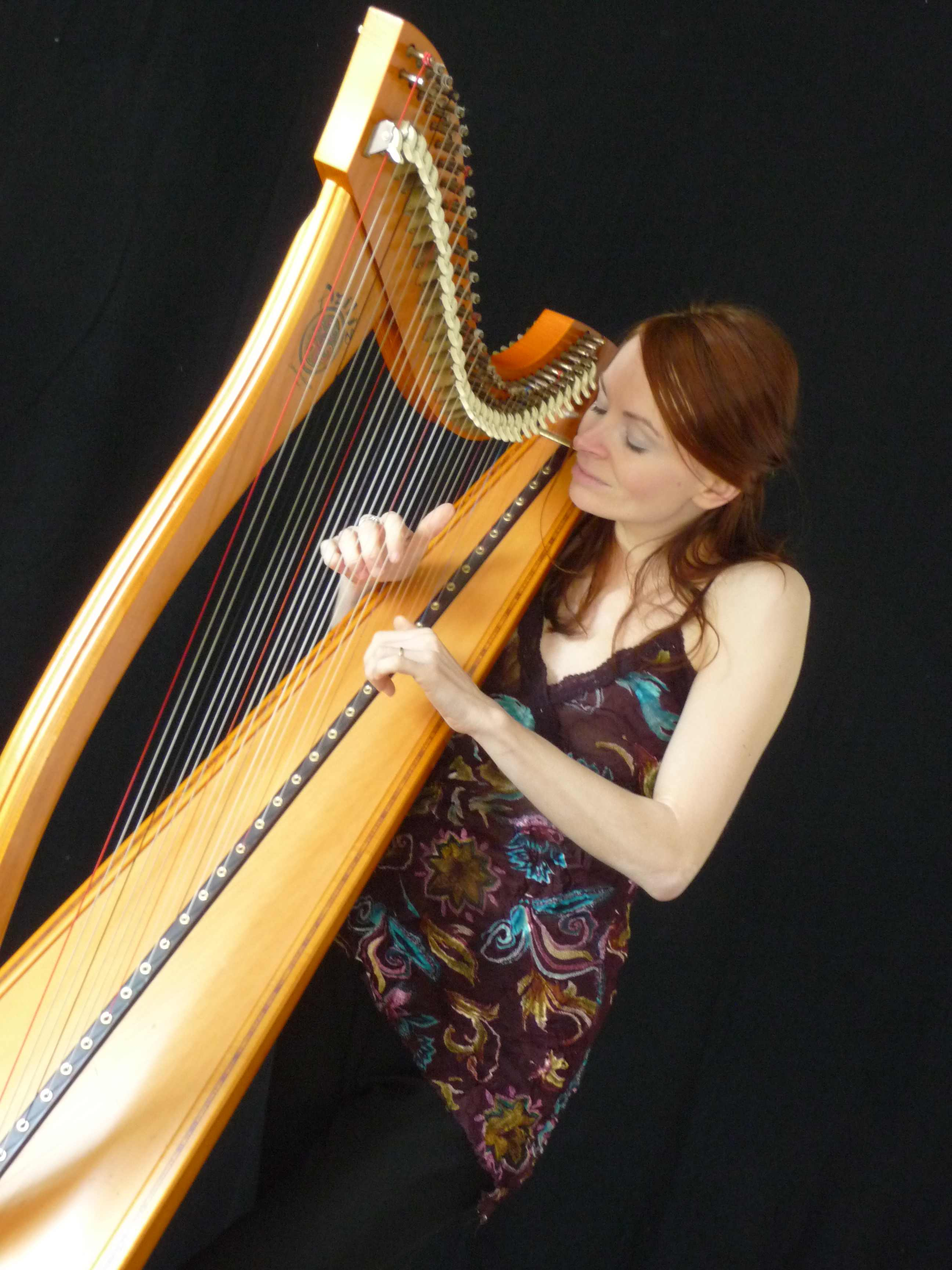 Gwenael Kerleo harpiste. Concert du 25 août 2018