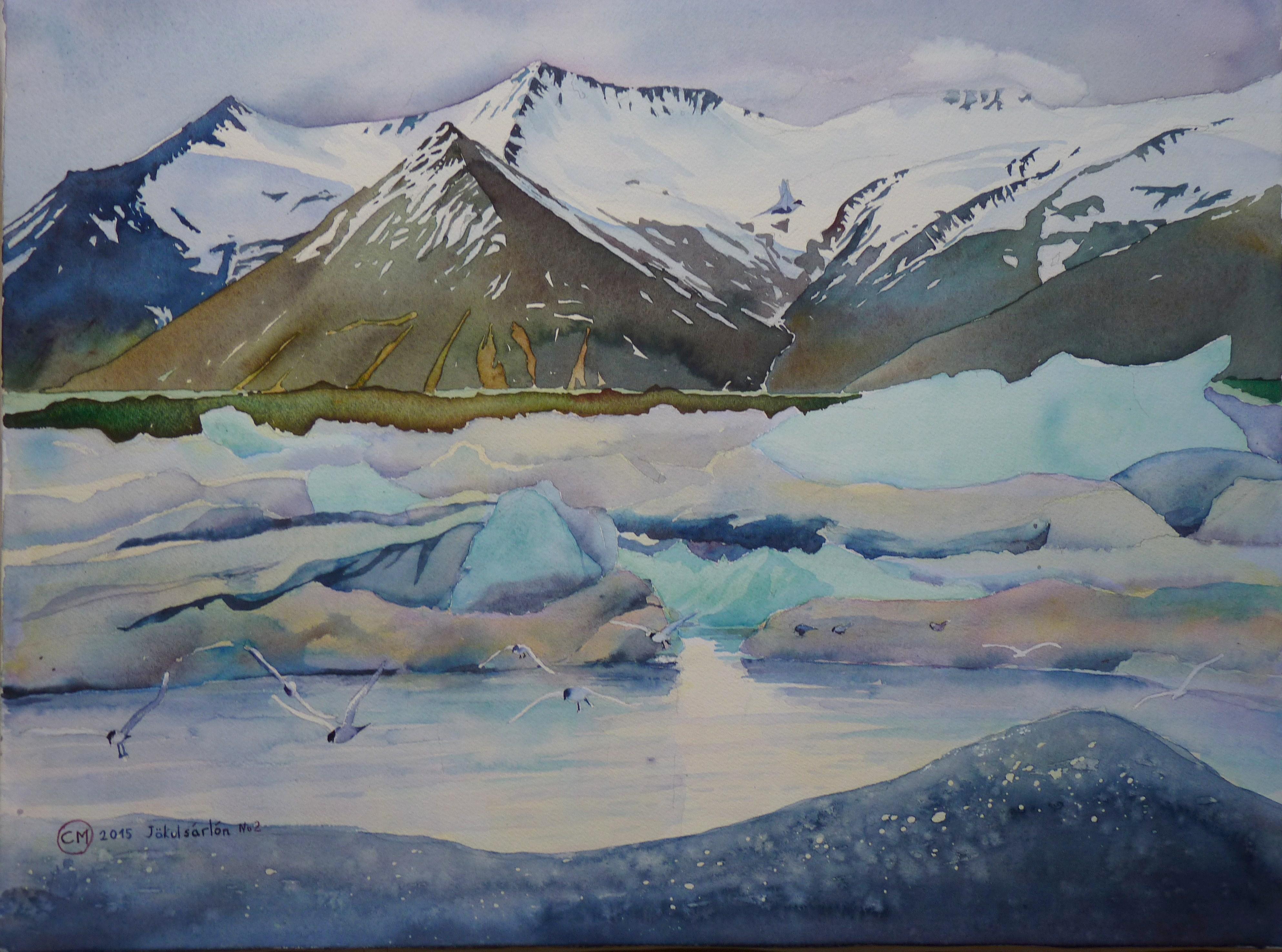 Exposition de Peinture Paysage d'Islande par  Claude Marchalot